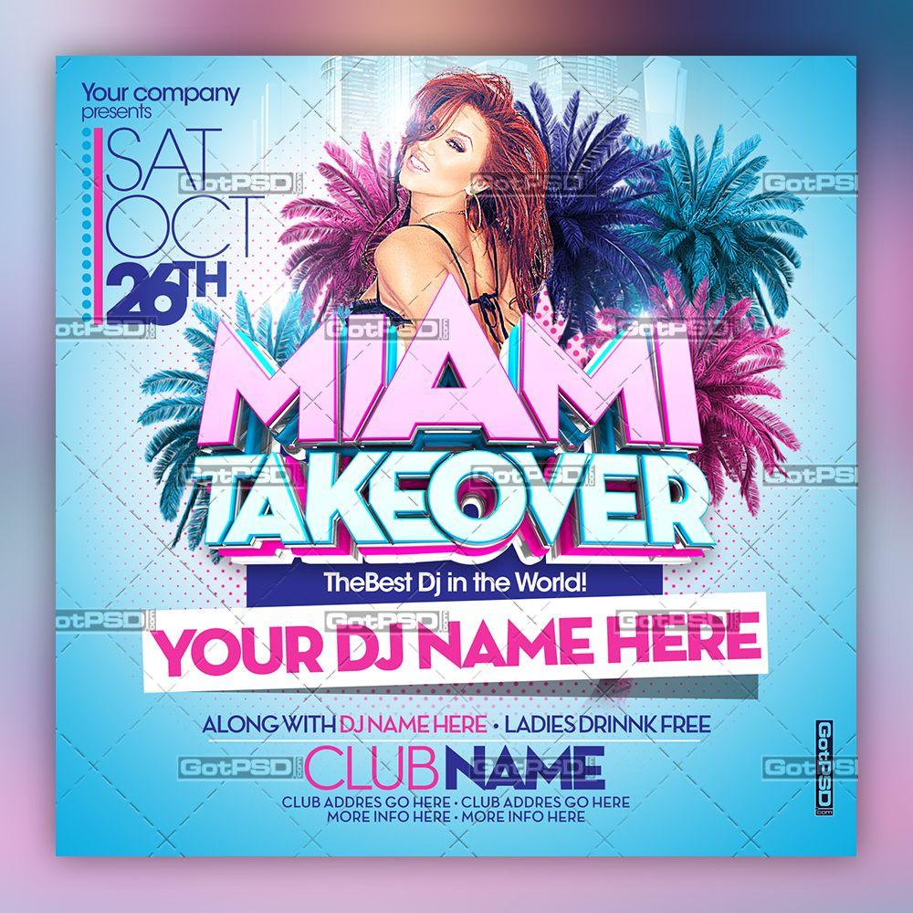 Miami Take Over デザイン, パーティー