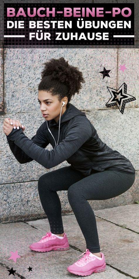Die besten Bauch-Beine-Po Übungen für Zuhause! #health