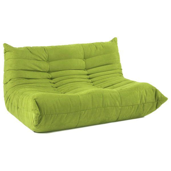Downlow Loveseat 500 Togo Look Alike 1 3 Of The Price Green Sofa