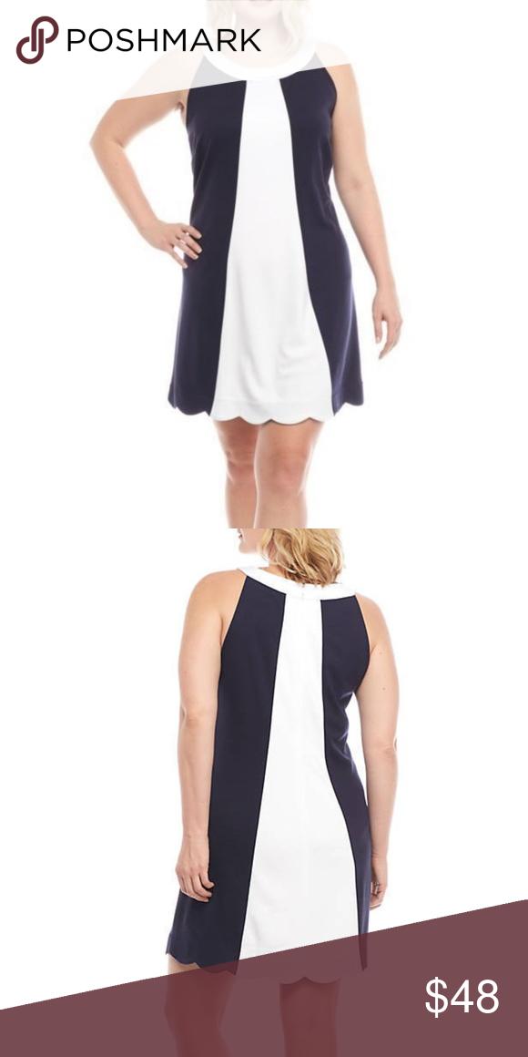 Sale! Crown & Ivy Scalloped Hem A line Dress