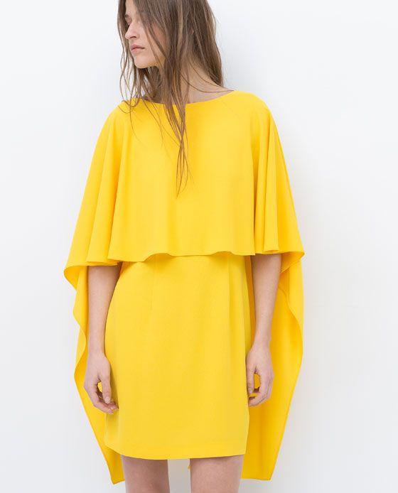 Vestido amarillo zara mujer