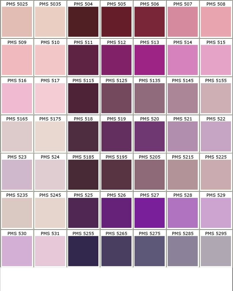 Nuancier Pantone Roseviolet Kolor In 2019 Pantone Color Chart