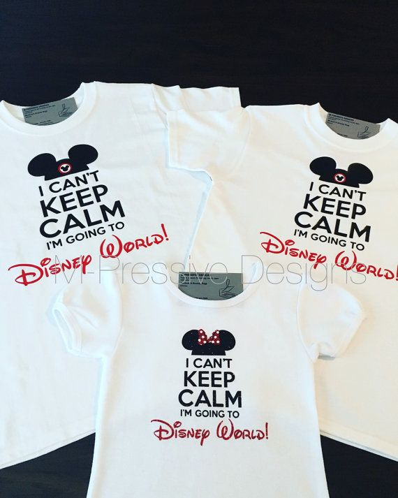 Cant Keep Calm I/'m Going to Disney World Minnie Mouse T-shirt Kids /& Women Size