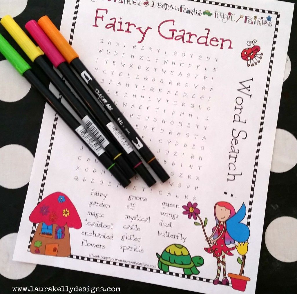 Fairy Garden Word Search - FREE downloadable printable ...