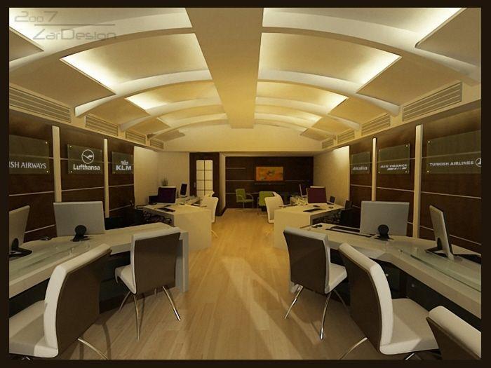Travel agency office interiors google keres s office for Travel agency interior design