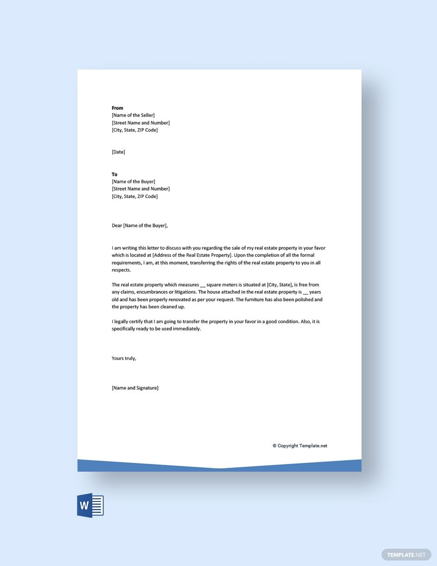 Letter Of Transfer Of Ownership Of Property Template Free Pdf Word Template Net Application Letter Template Reference Letter Application Letters