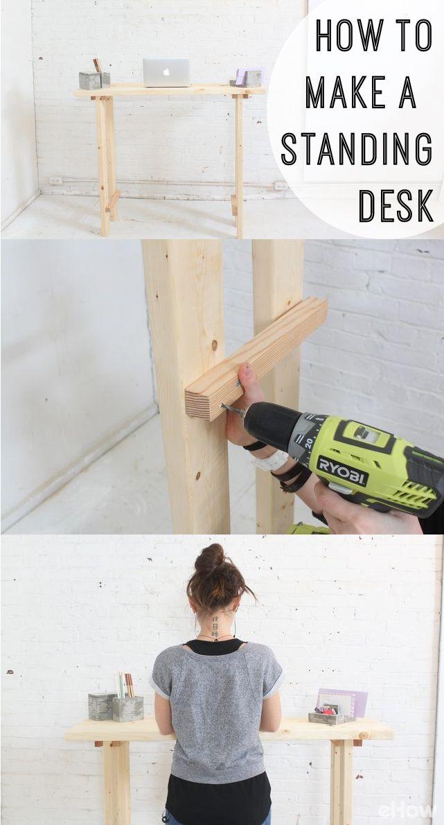 how to make a standing desk simple designs desks and campaign. Black Bedroom Furniture Sets. Home Design Ideas