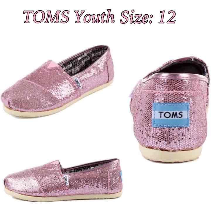 TOMS Classic Pink Glitter Size: 12 - Mercari: Anyone can buy & sell