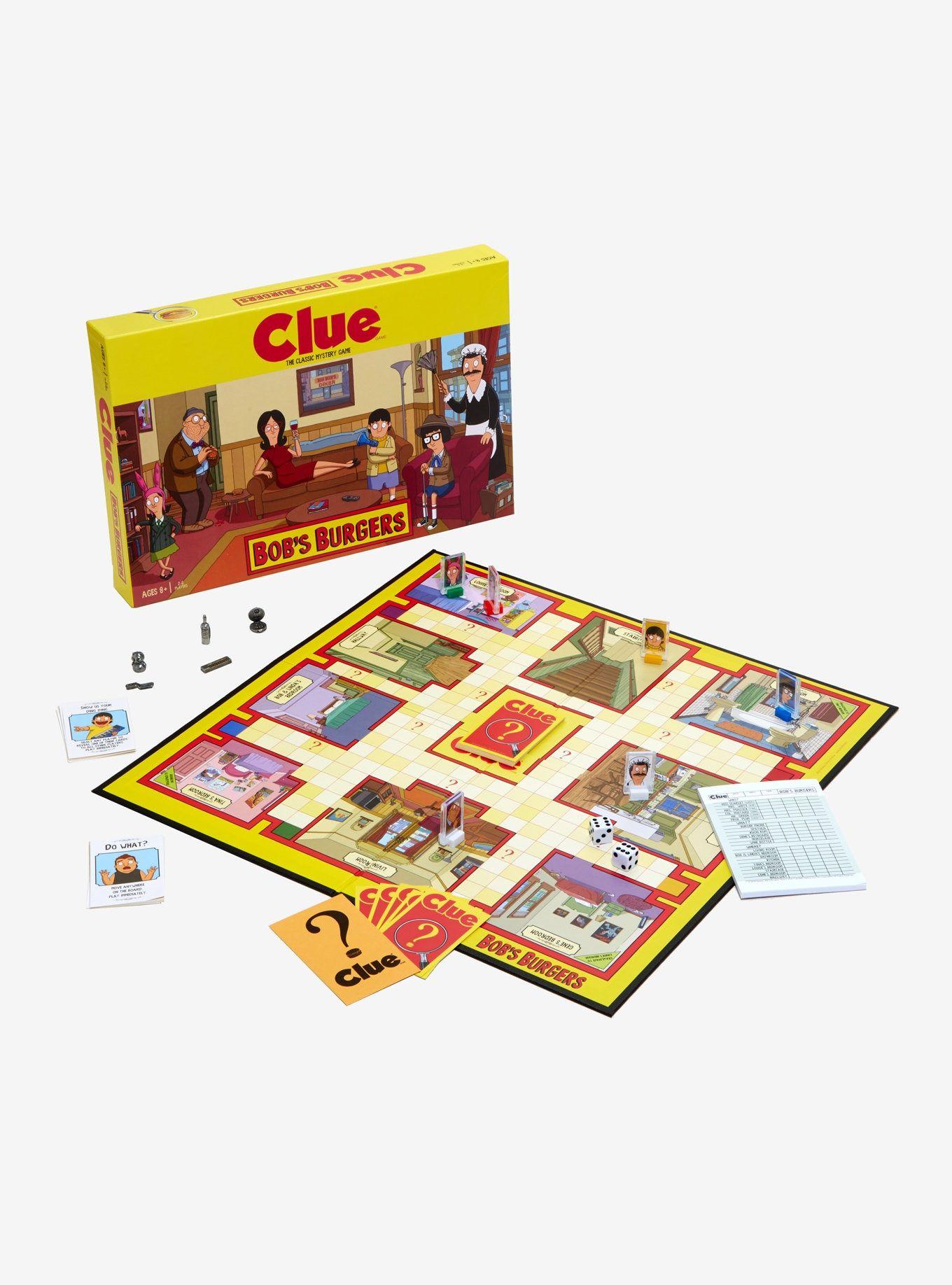 Bob's Burgers Clue Bobs burgers, Mystery games, Clue games