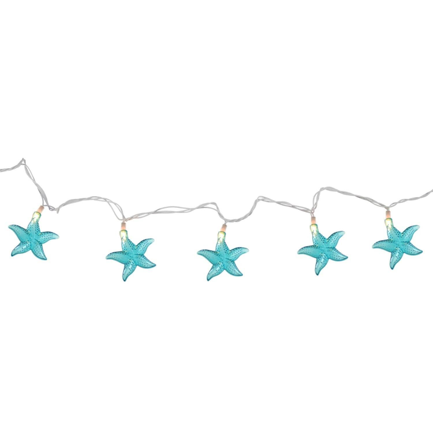 Set of 10 Under The Sea Teal Blue Starfish Patio and Garden Novelty ...