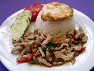 Fried pork basil and egg put kaprow mu khai dow luscious food fried pork basil and egg put kaprow mu khai dow appons thai food recipes forumfinder Images