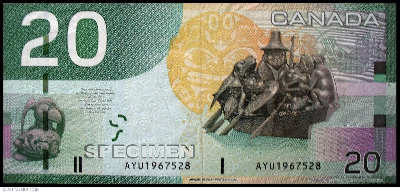 20 canadian dollars 2004 20012008 issue canada