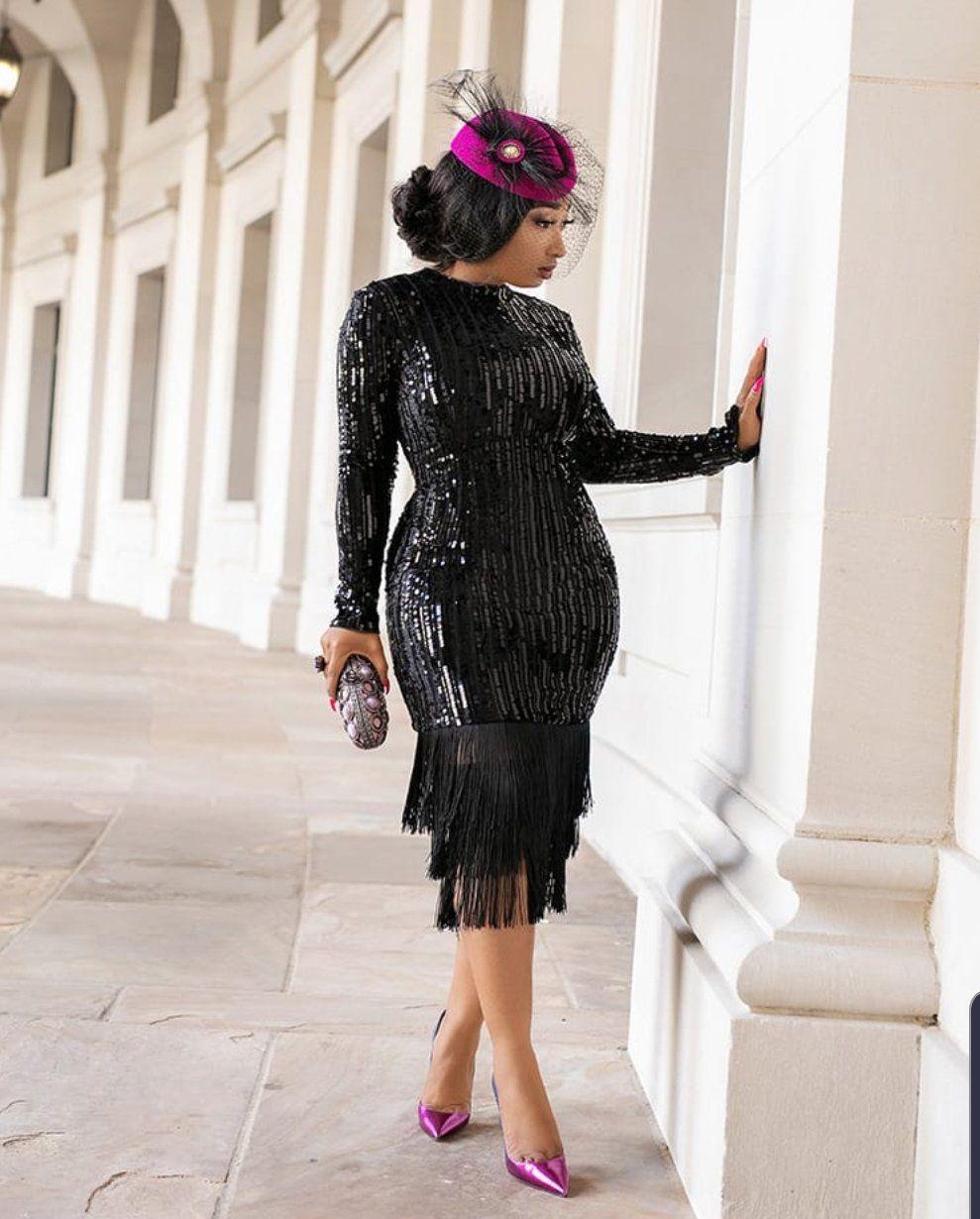 Joanne Velvet Sequin Fringe Dress Dresses Party Dress Long Fringe Dress [ 1230 x 989 Pixel ]
