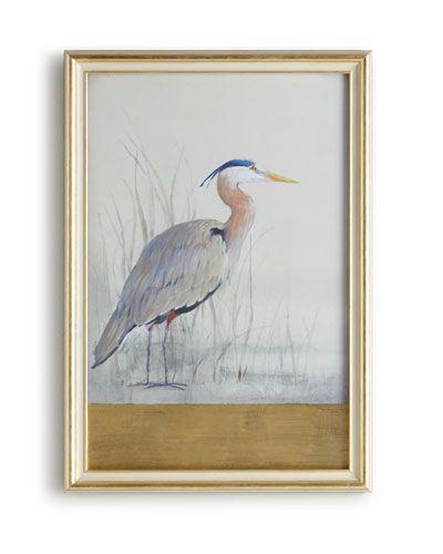 "H79Q1 John-Richard Collection ""Keeping Watch I"" (Right Facing) Heron Print"