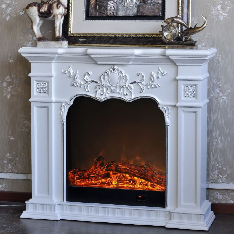 White Fireplace Electric Charming Fireplace