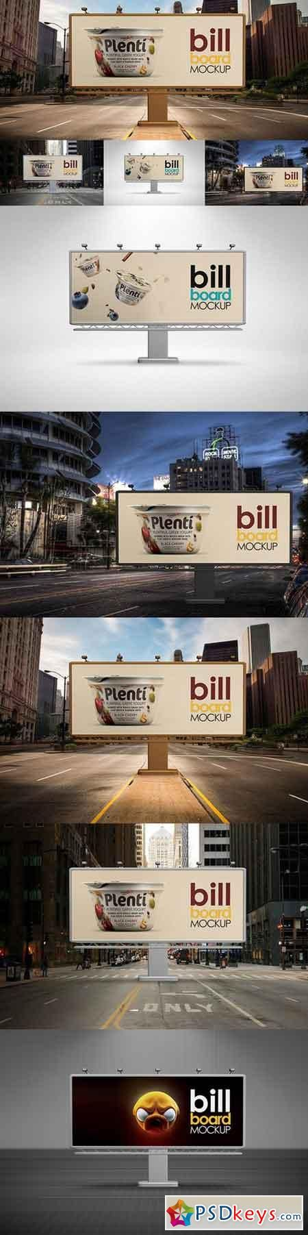 Bill Board Mock-Up 514710 | psd keys | Billboard mockup