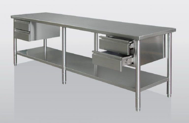 Commercial Kitchen Stainless Steel Tables Kitchen Vintage Industrial ...