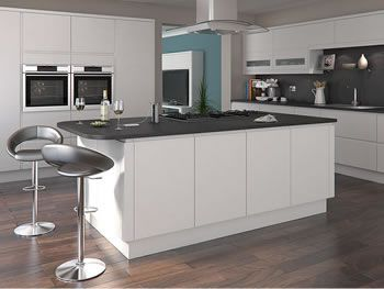 Painted White Kitchens L Shaped Island Kitchen Units At Trade Prices Diy Kitchens White Kitchen Units Kitchen Fittings Handleless Kitchen