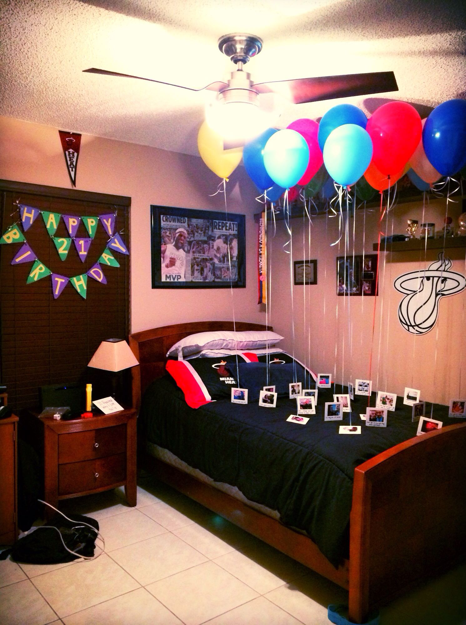Birthday surprise for Boyfriend. (21st birthday) 21