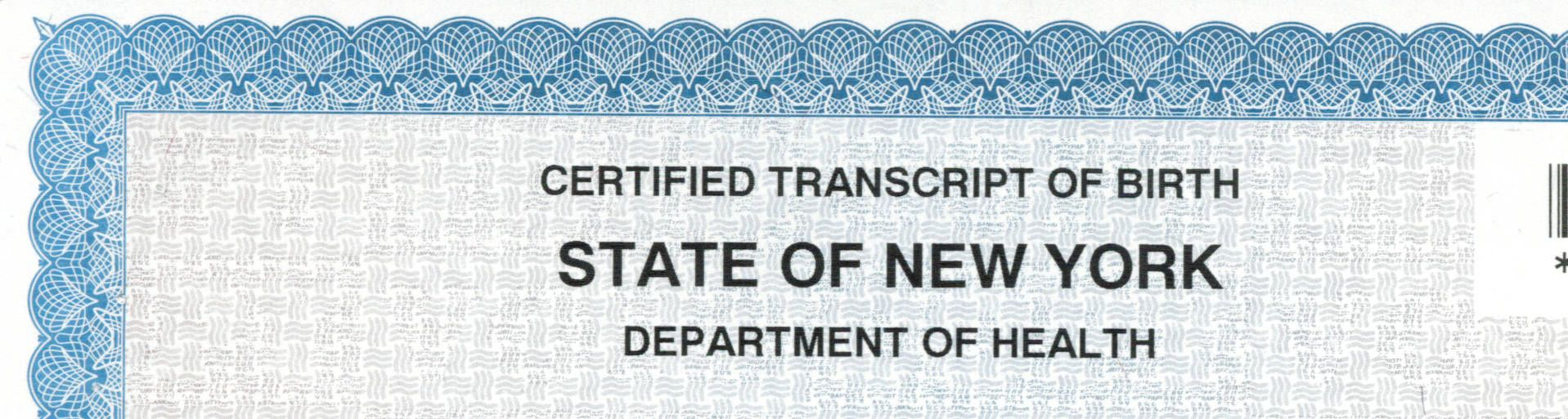 Ny State Birth Certificate Header Notary Apostille Service