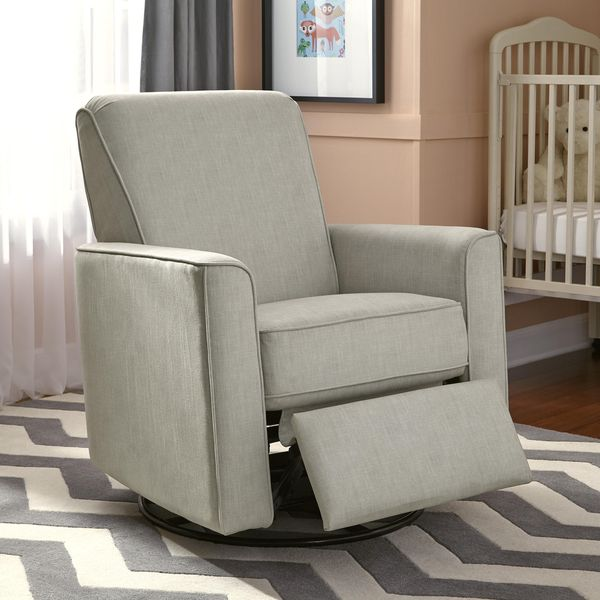 Luna Grey Nursery Swivel Glider Recliner Chair 724