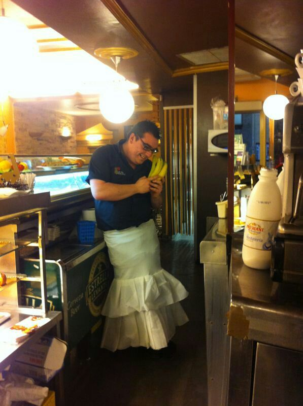 La simpatía de nuestro camarero!