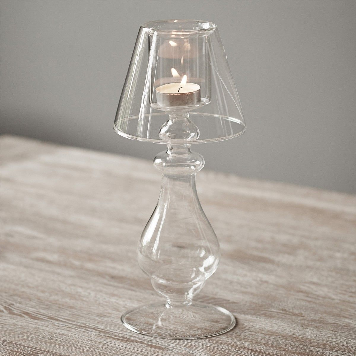 Ronnie Tall Glass Candlestick