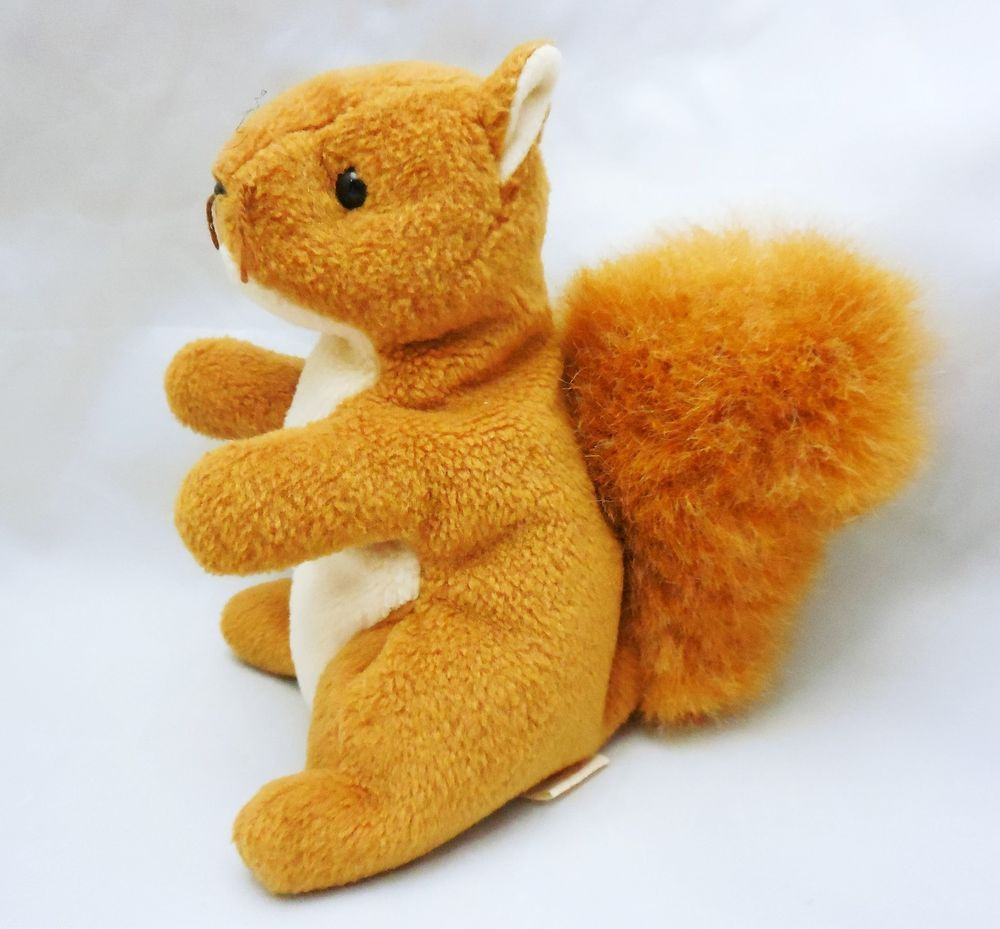 Ty 1996 Beanie Babies Squirrel Nuts Retired No Swing Tag Baby Squirrel Baby Beanie Squirrel [ 929 x 1000 Pixel ]