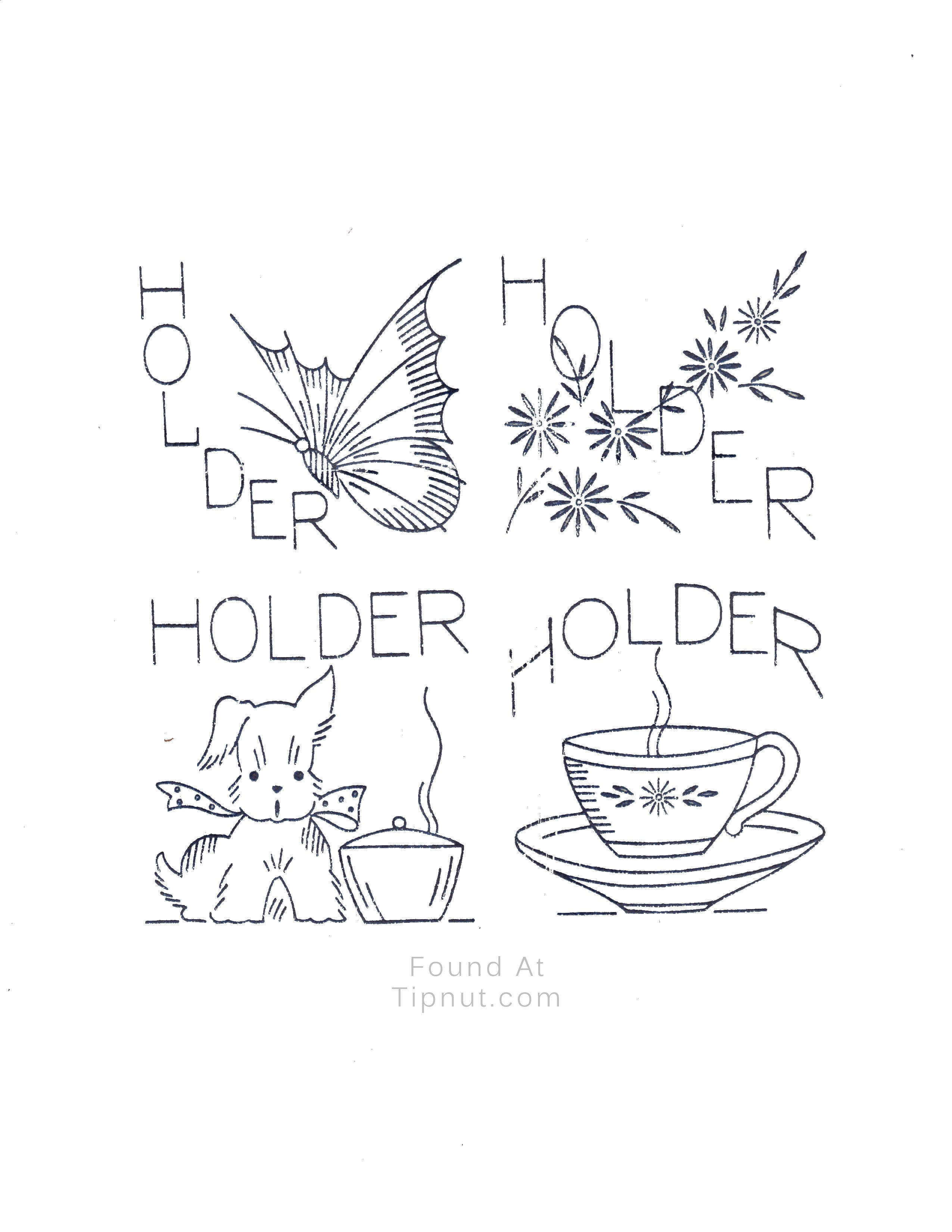 Pot Holders (Cute doggie) | Hobbies&crafts!!! | Pinterest | Apliques ...