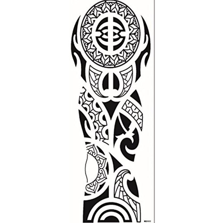 Grashine long last temporary tattoos long arm totem