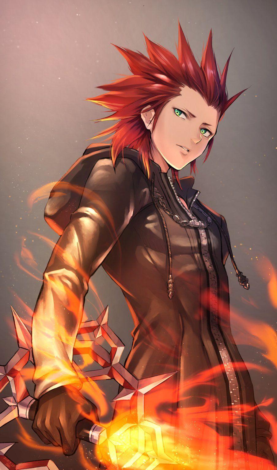 Axel Lea Axel Kingdom Hearts Kingdom Hearts Fanart Kingdom Hearts