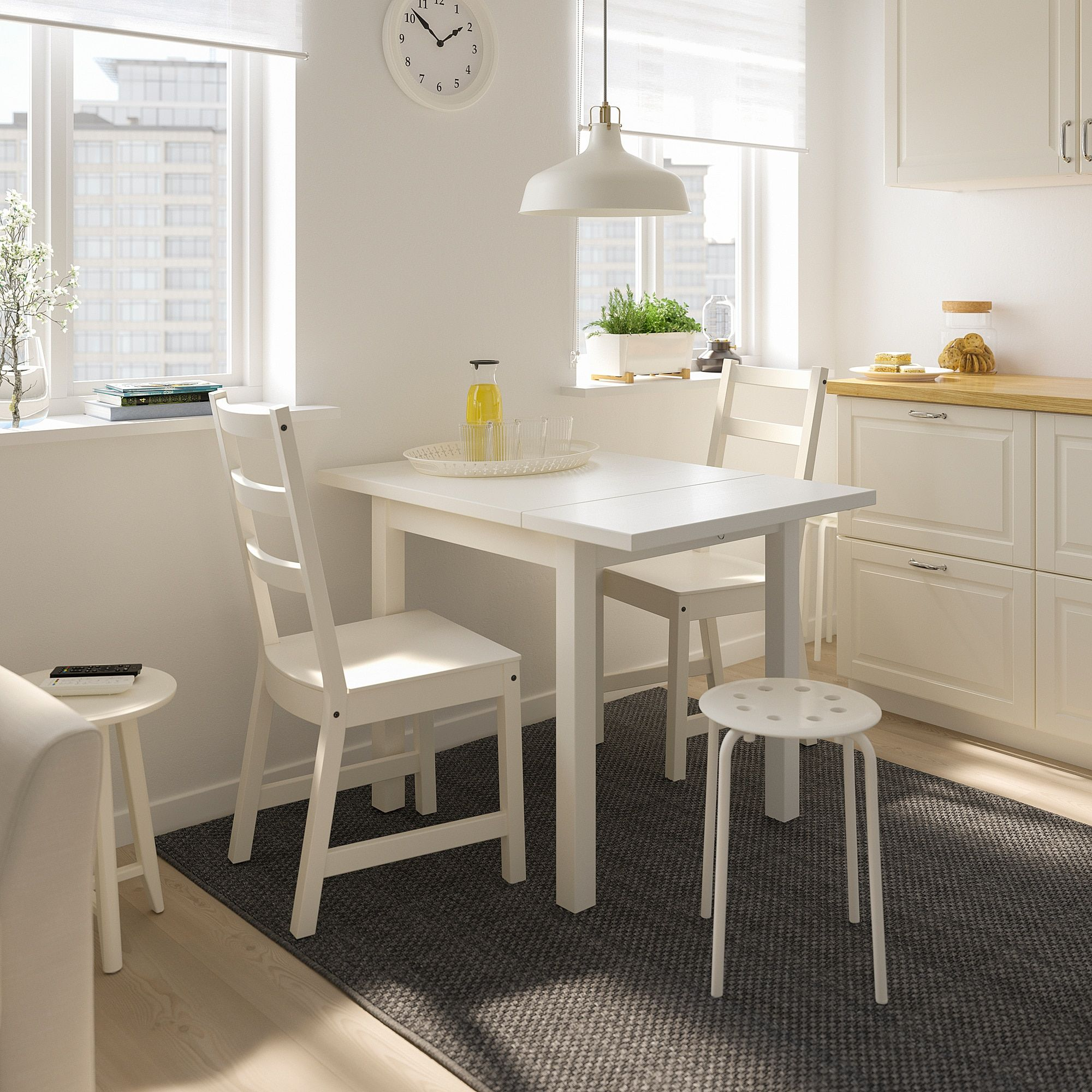Nordviken Table And 2 Chairs White In