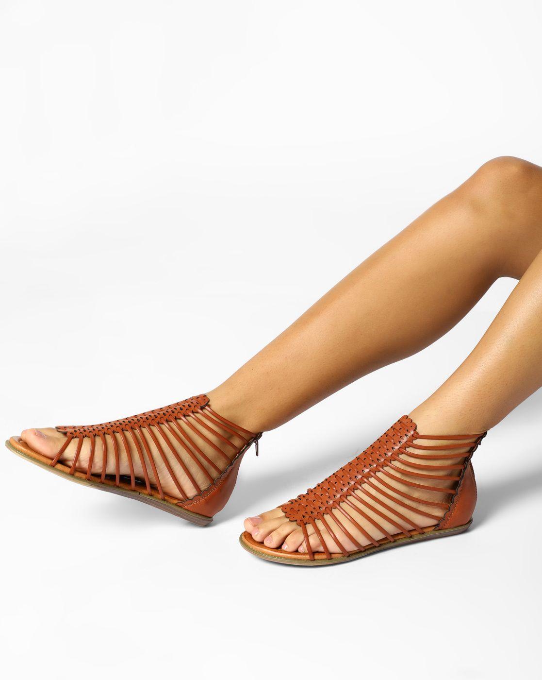 Carlton London Brown Rubber Gladiator Flat Sandals Brown Rubber Gladiator Flats Flat Gladiator Sandals Sandal Online Flat Sandals