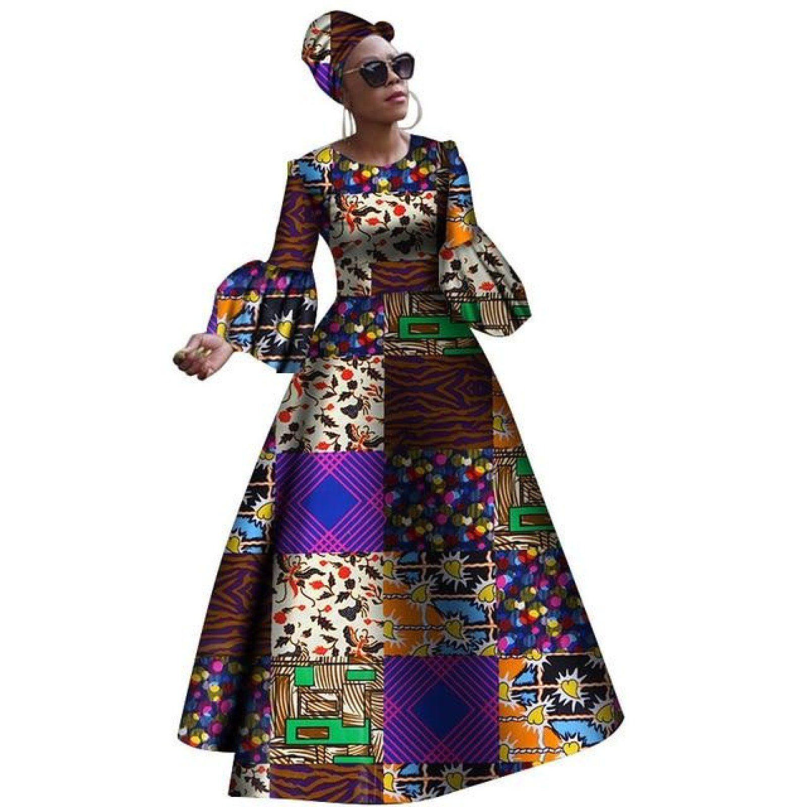 Dashiki Print Maxi African dresses for X11329 #africandressstyles