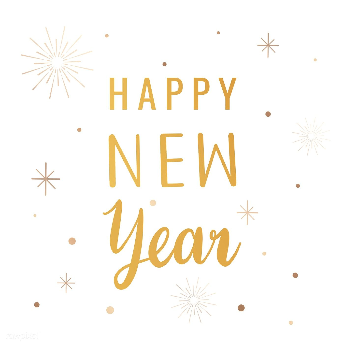 Happy New Year Card Vector Free Image By Rawpixel Com Aum Happy New Year Cards Happy New Year Typography Happy New Year Calligraphy