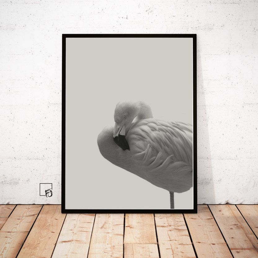 Flamingo Wall Art Prints Minimalist Wall Decor Flamingo Print Minimalist  Modern Art Scandinavian Print Wall Prints