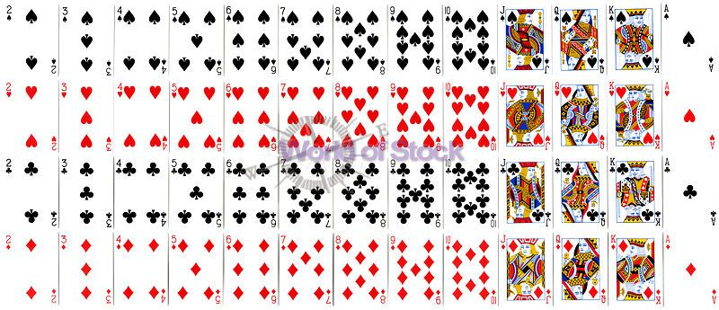 picture about Printable Playing Cards called printable participating in playing cards Inventory Image led: Finish Deck Of