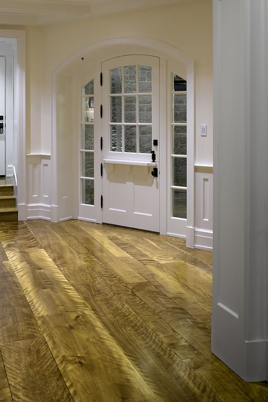 The Homeowners Chose Floor Boards Made From 5 12 Inch Wide Solid Curly Birch For This Spectacula Wide Plank Hardwood Floors Birch Hardwood Floors Birch Floors