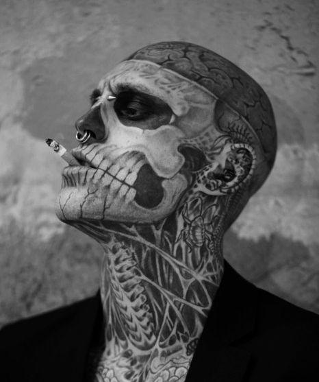 Zombie Boy Rick Genest Rick Genest Zombie Man Art