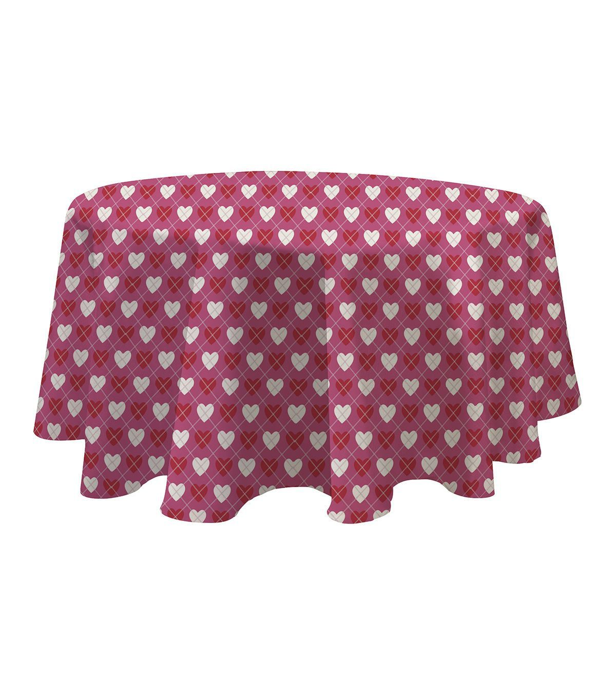 Valentineu0027s Day 60u0027u0027 Round PEVA Tablecloth Very Valentines