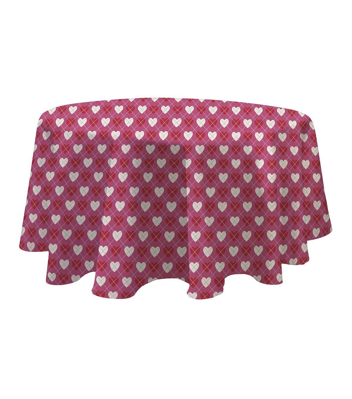 Valentineu0027s Day 60u0027u0027 Round PEVA Tablecloth Very Valentines