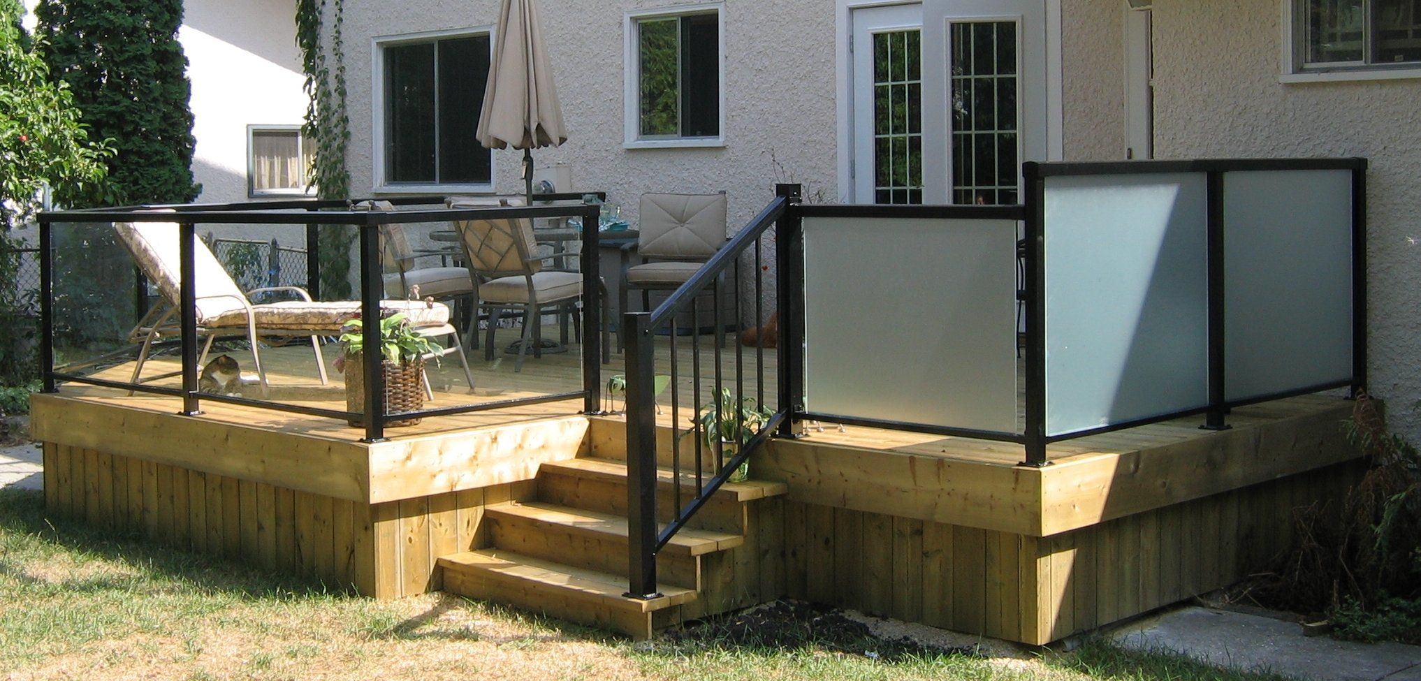 how to cut aluminum deck railing