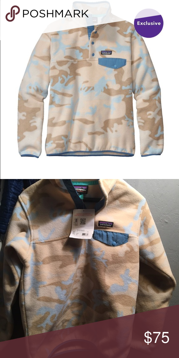 4ba18565e98d4 Patagonia Synchilla Snap-T Pullover Patagonia Synchilla Snap-T Pullover  women's size XS Color Forest Camo:Tubular Blue, never worn with tags still  attached.