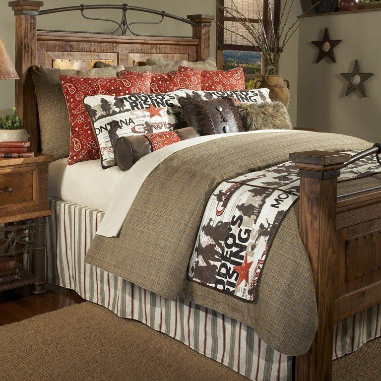 Cowboy Rodeo 4pc Bedding Set in 2020 Home decor, Western