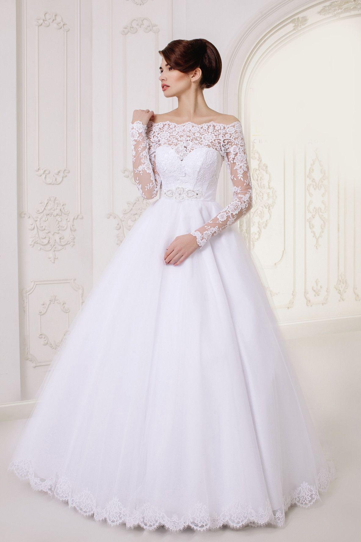 Long ALine Lace Long Sleeves Wedding Dress My Best