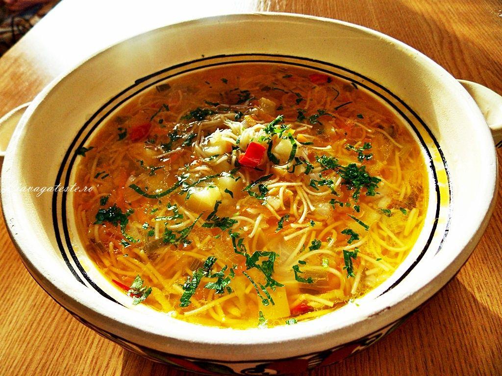 Reteta Ciorba De Legume Cu Taitei Recipe Healty Food Food Network Recipes Food