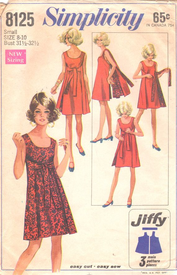 Simplicity 8125 1960s Misses Easy Reversible Wrap Dress womens vintage sewing pattern by mbchills