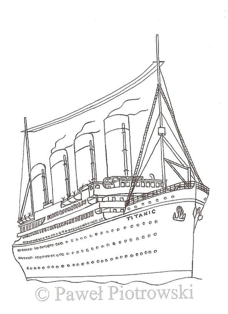 8 Best Titanic Images On Pinterest Coloring Pages Britannic Coloring Pages Radiokotha Titanic Drawing Titanic Coloring Pages