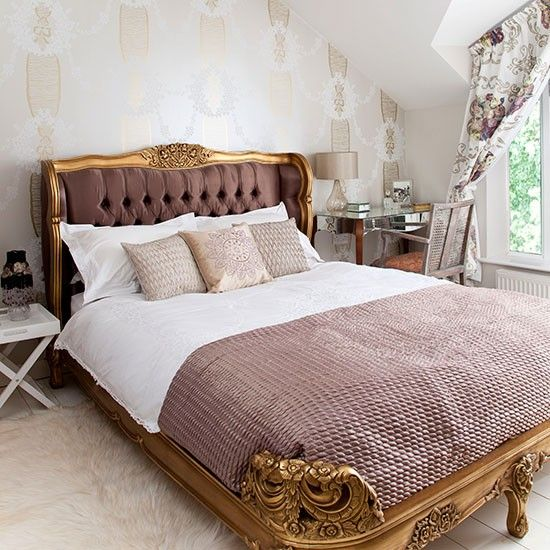 Gold And Pink French Style Bedroom