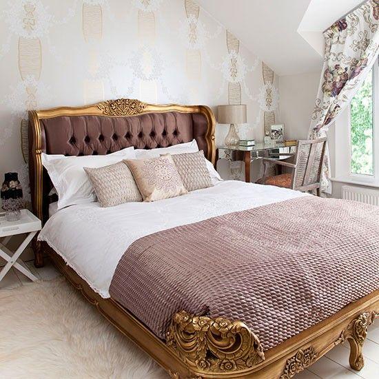 Gold und rosa Französisch Stil Schlafzimmer WOHNEN \ EINRICHTEN